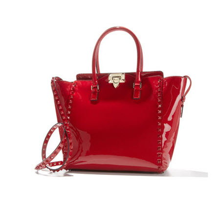 Valentino Punkouture Studded Patent Tote Bag 2