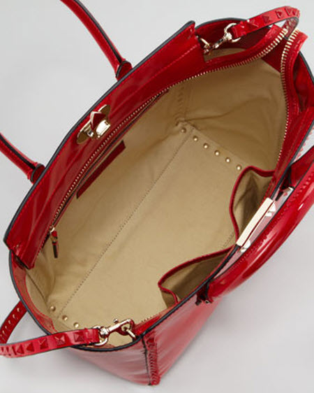Valentino Punkouture Studded Patent Tote Bag 3