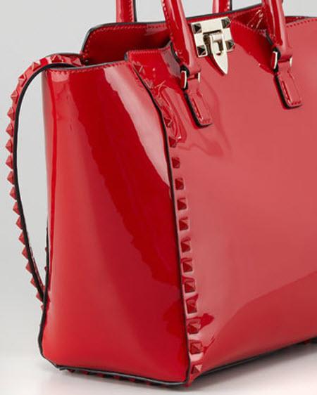 Valentino Punkouture Studded Patent Tote Bag 4