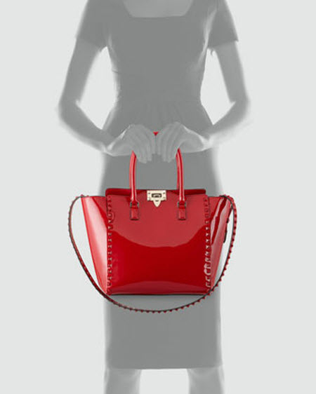 Valentino Punkouture Studded Patent Tote Bag 5