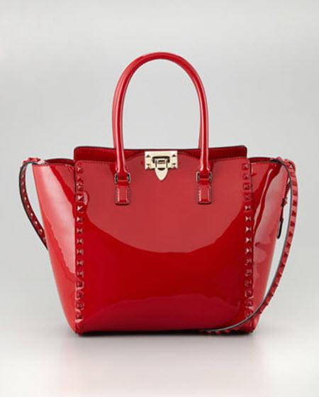 Valentino Punkouture Studded Patent Tote Bag