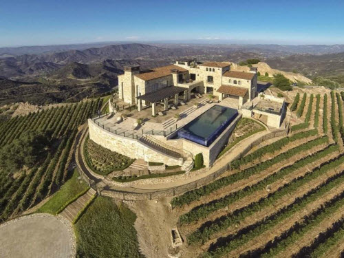 $36 Million Rocky Oaks Estate Vineyards in Malibu California