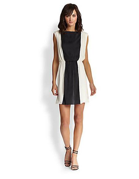 Alice + Olivia Kennedy Silk Dress