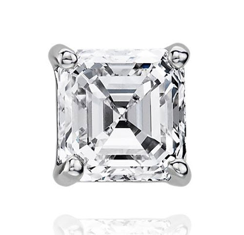 Asscher Diamond Stud Earrings 2