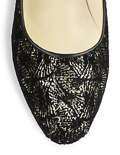 Brian Atwood Maniac Sequined Velvet Platform Pumps 3