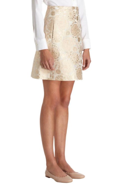 CHLOÉ A-Line Jacquard Skirt 2
