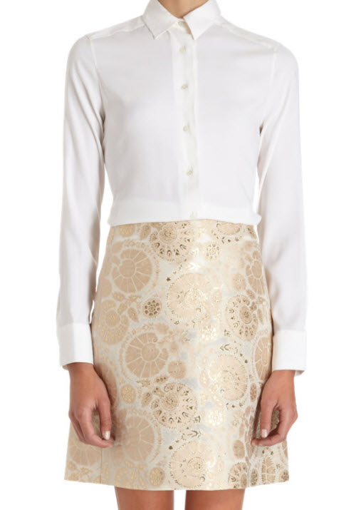 CHLOÉ A-Line Jacquard Skirt 3