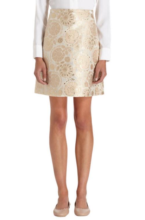 CHLOÉ A-Line Jacquard Skirt