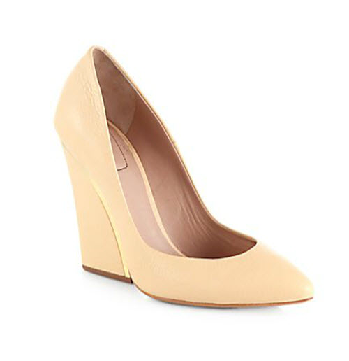 Chloé Leather Wedge Pumps