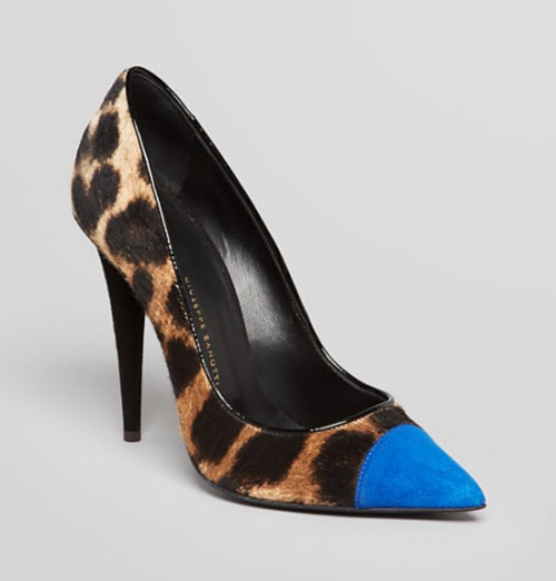 Giuseppe Zanotti Pointed Toe Pumps - Ester Calf Hair High Heel