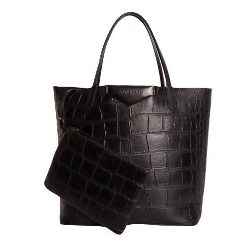 Givenchy Croc-Stamped Medium Antigona 2