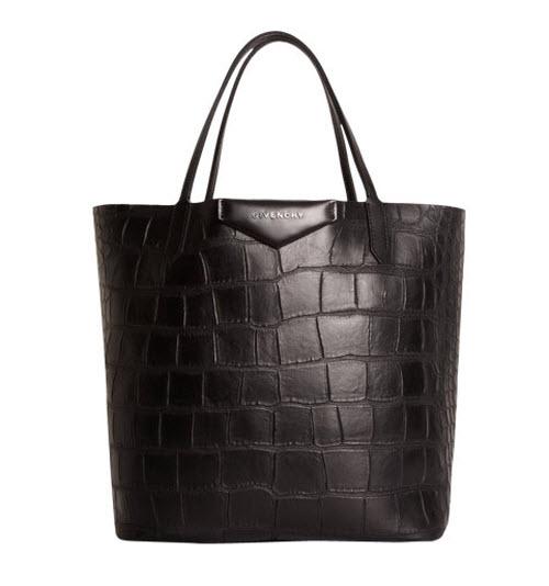 Givenchy Croc-Stamped Medium Antigona