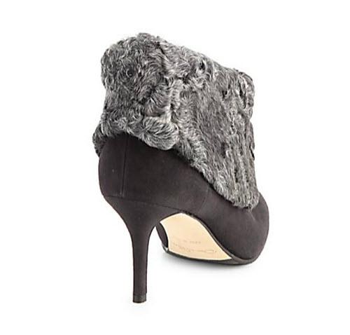 Oscar de la Renta Zarina Shearling-Trimmed Suede Ankle Boots 2
