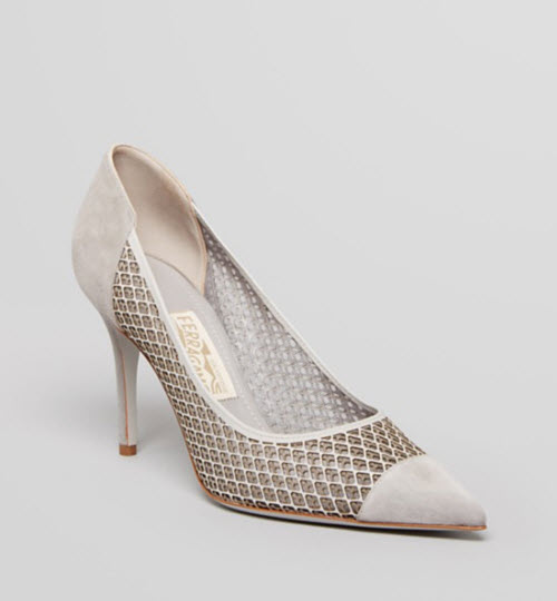 Salvatore Ferragamo Renita Runway High Heel Pointed Toe Pumps