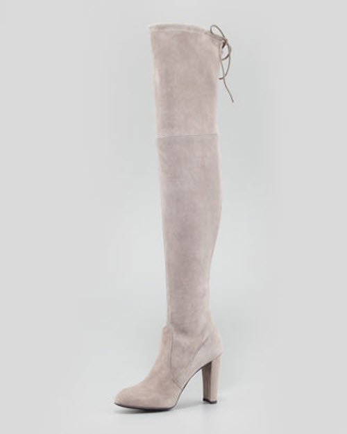 Stuart Weitzman Highland Stretchy Suede Over-the-Knee Boot