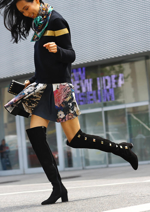 Valentino Studded Suede Over-The-Knee Boots 3