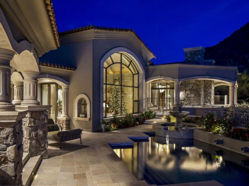 Estate of the day 5 1 million tuscan estate in arizona for Luxury tuscan homes