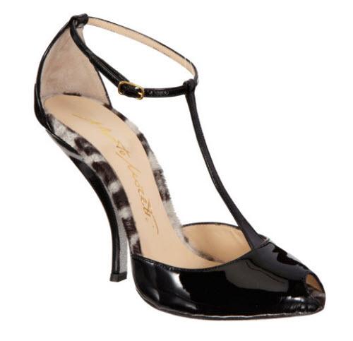 Alberto Moretti T-Strap Glitter Sole Sandal
