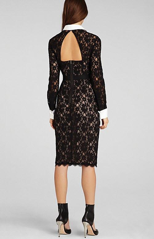 BCBGMAXAZRIA Olga Fitted Lace Dress 2