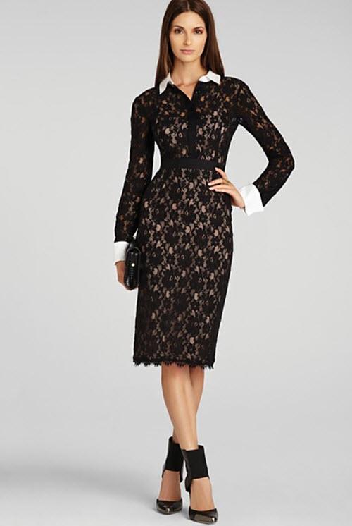 BCBGMAXAZRIA Olga Fitted Lace Dress