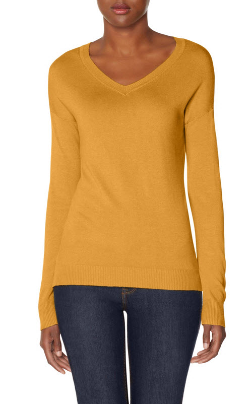 Elbow Patch V-Neck Sweater 2
