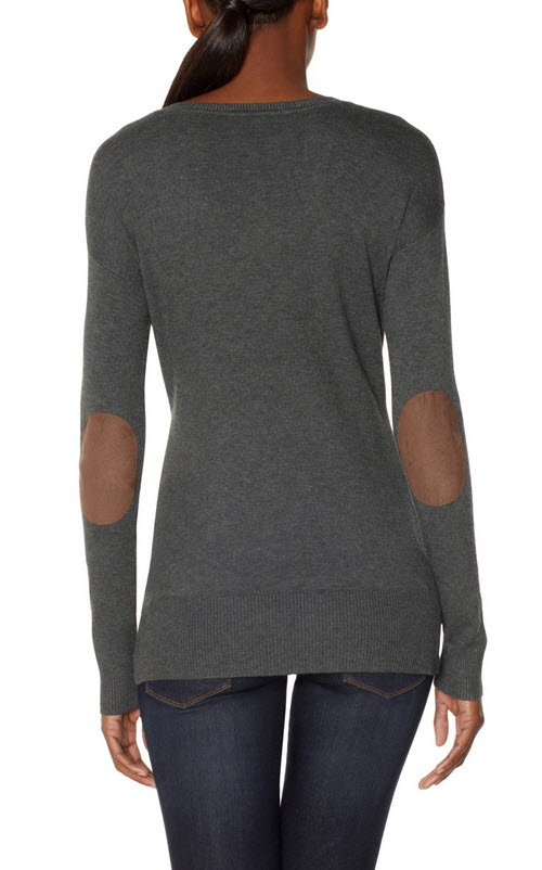 Elbow Patch V-Neck Sweater 3