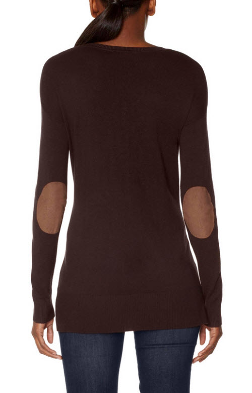 Elbow Patch V-Neck Sweater 4