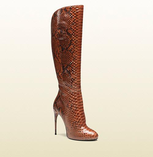 Gucci Kim Python Knee Boot 5