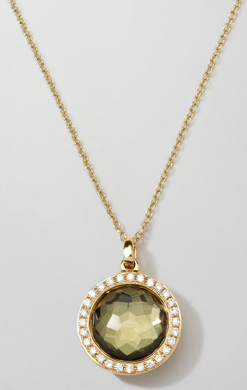 Ippolita 18K Gold Rock Candy Mini Lollipop Necklace in Pyrite & Diamonds