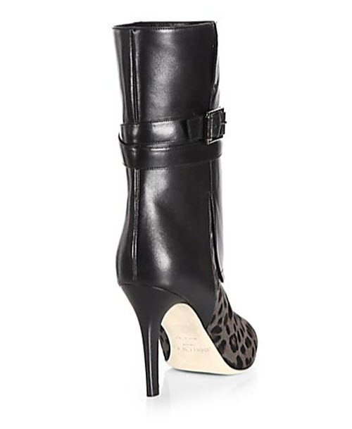 Jimmy Choo Ballad Leopard-Print Pony Hair & Leather Mid-Calf Boots 2