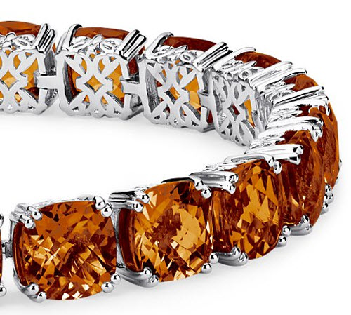 Madeira Citrine Cushion Cut Bracelet 2