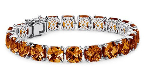 Madeira Citrine Cushion Cut Bracelet