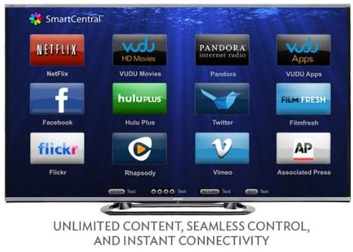 Sharp LC-80LE857 80-inch Aquos Quattron 1080p 240Hz Smart LED 3D HDTV 4