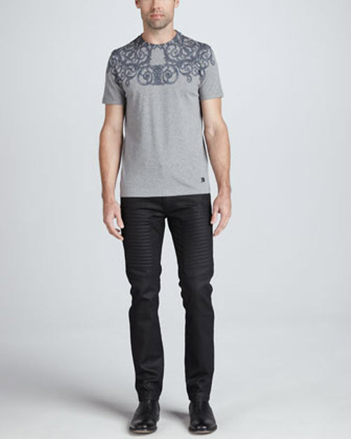 Versace Collection Slim-Fit Moto Denim 3