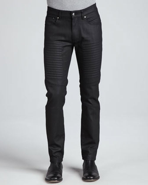 Versace Collection Slim-Fit Moto Denim