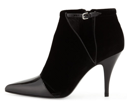 3.1 Phillip Lim Quill Velvet & Patent Pointy-Toe Bootie 2