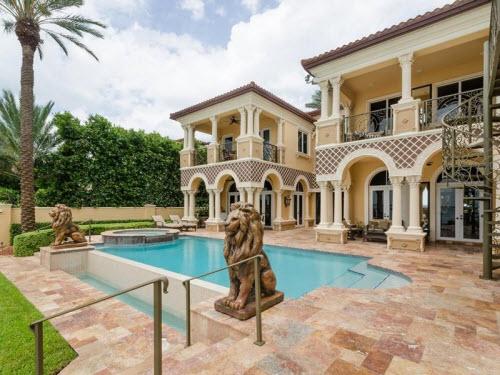 $8.9 Million Waterfront Mansion in Miami Beach Florida 10
