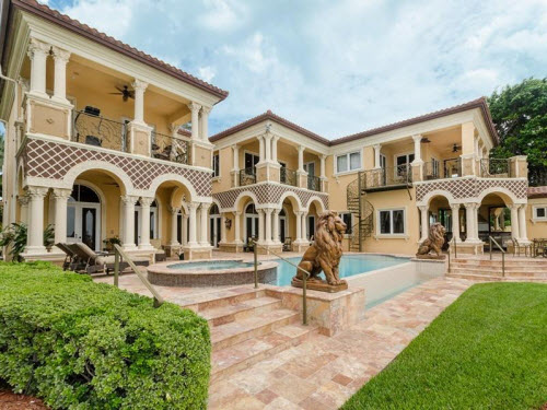 $8.9 Million Waterfront Mansion in Miami Beach Florida