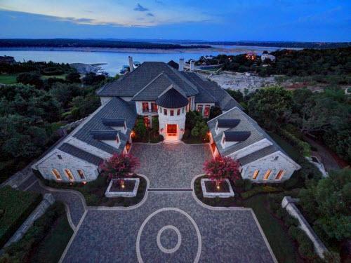 $9.9 Million Stone Chateau Costa Bella in Austin Texas