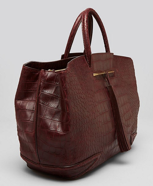 B Brian Atwood Grace East West Embossed Tote 3