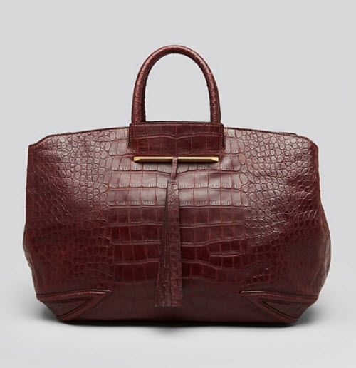B Brian Atwood Grace East West Embossed Tote