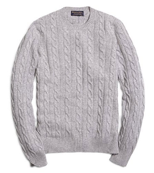Brooks Brothers Cashmere Cable Crewneck Sweater 2