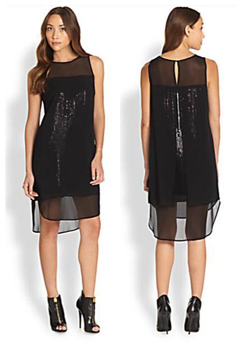 DKNY Double-Overlay Dress 3