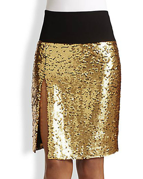 DKNY Sequined Skirt