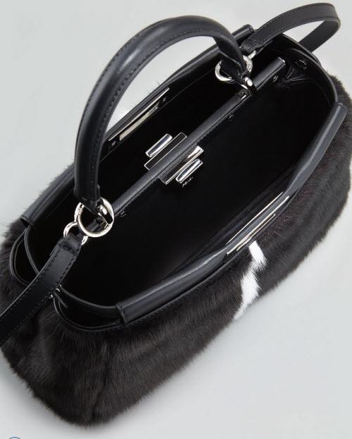 Fendi Peekaboo Mink Tote Bag 2