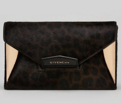 Givenchy Antigona Leopard-Print Envelope Clutch Bag