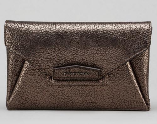 Givenchy Antigona Small Metallic Envelope Clutch Bag