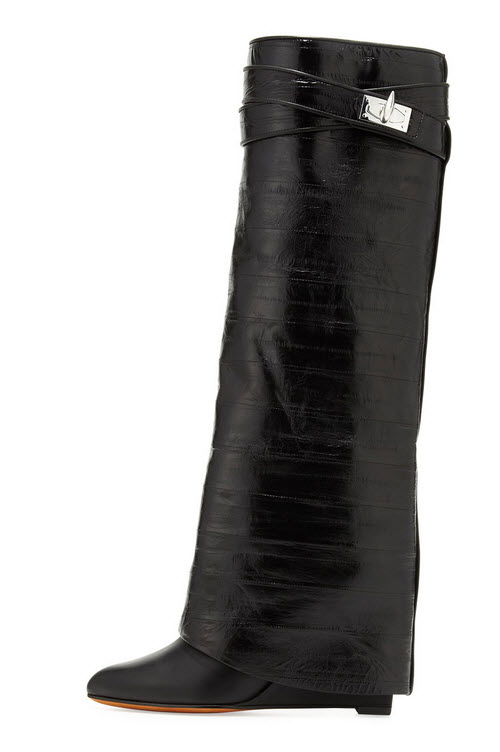 Givenchy Eel Shark Lock Fold-Over Boot 2