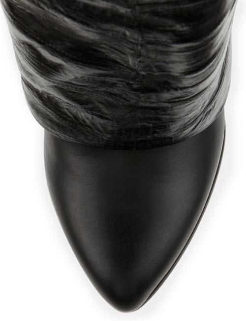 Givenchy Eel Shark Lock Fold-Over Boot 3