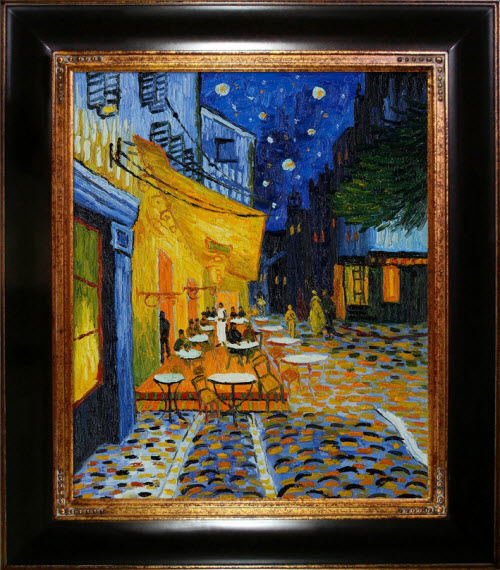 Hand-Painted Recreation of Van Gogh's Cafe Terrace at Night